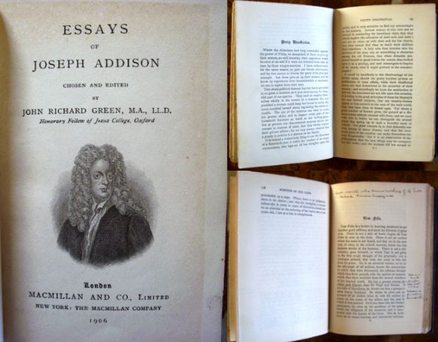 an essay to joseph addison the vision of mirza questions Prince of abissinia study guide contains a biography of samuel johnson, literature essays, quiz questions  (1765), and joseph addison's the vision of mirza.
