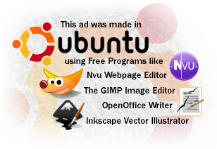 This ad was made entirely in Ubuntu!