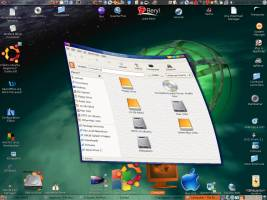Insane and stunning desktop effects can be added via window managers like Beryl!