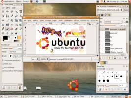 The Gimp image manipulation program in Ubuntu